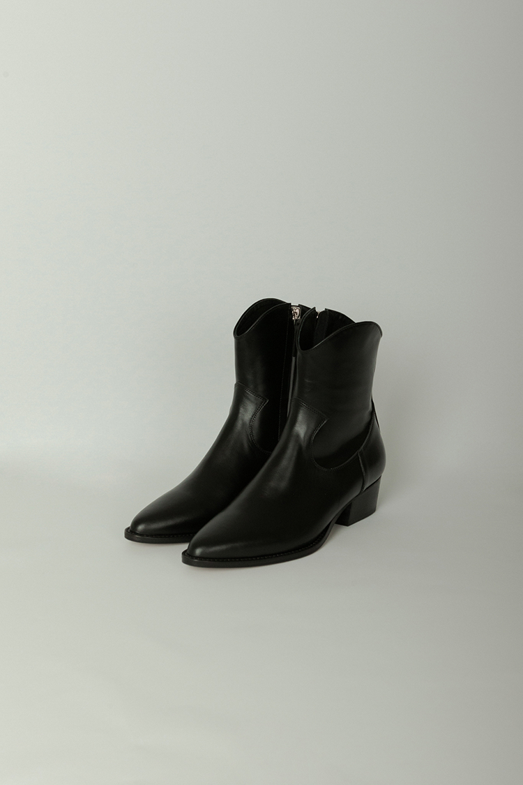 Copper Western Ankle Boots (Black)