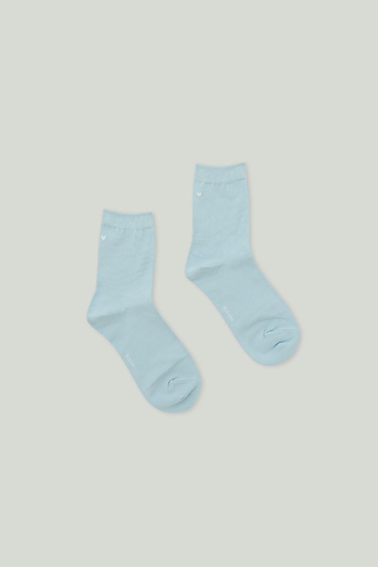 Heart Ankle Socks (Baby Blue)