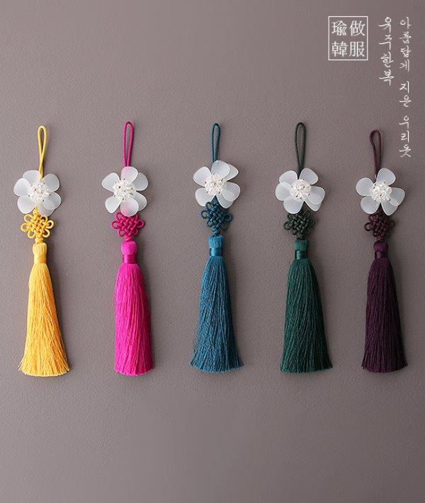 이화유리큰꽃노리개'전통'