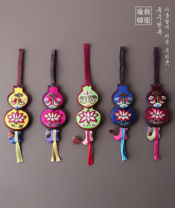 손수연꽃조롱박노리개