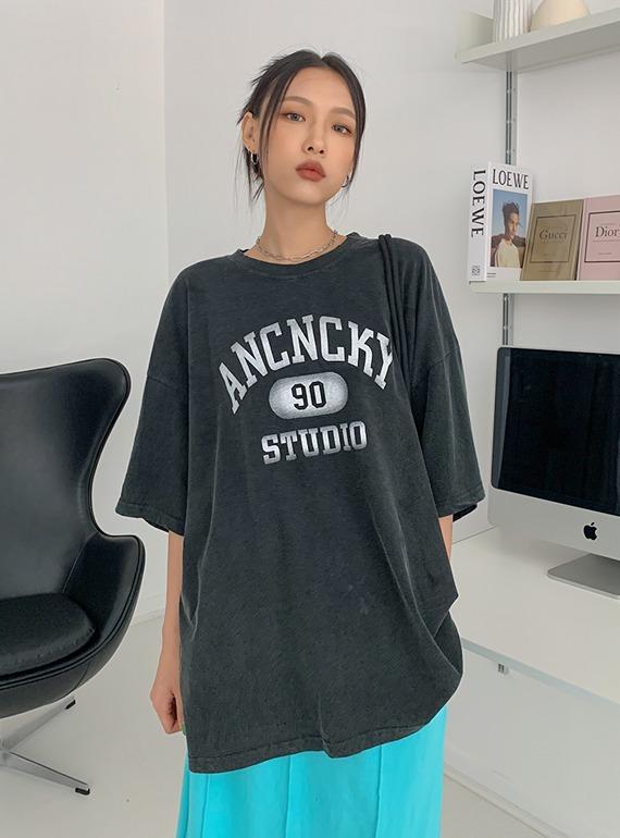 (UNISEX) 닐린 프린팅 티셔츠