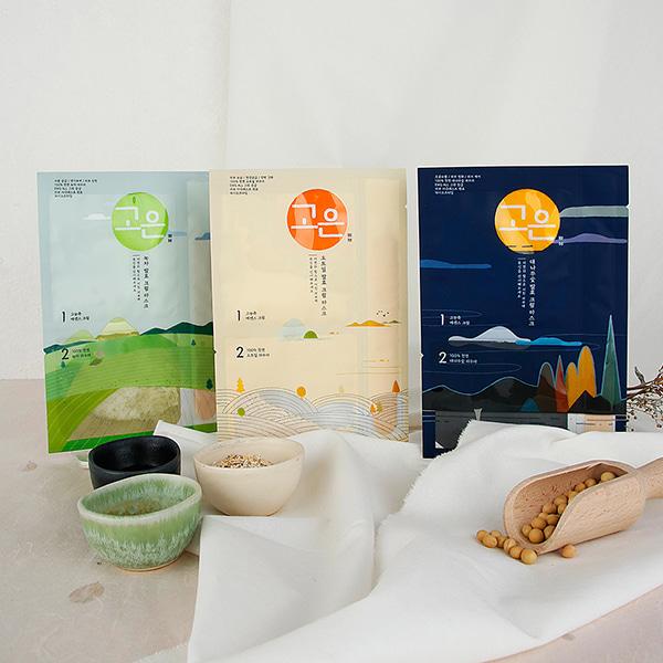 [DAYCELL] GOUN Fermented Cream Mask - Bamboo Charcoal, Oatmeal, Green Tea