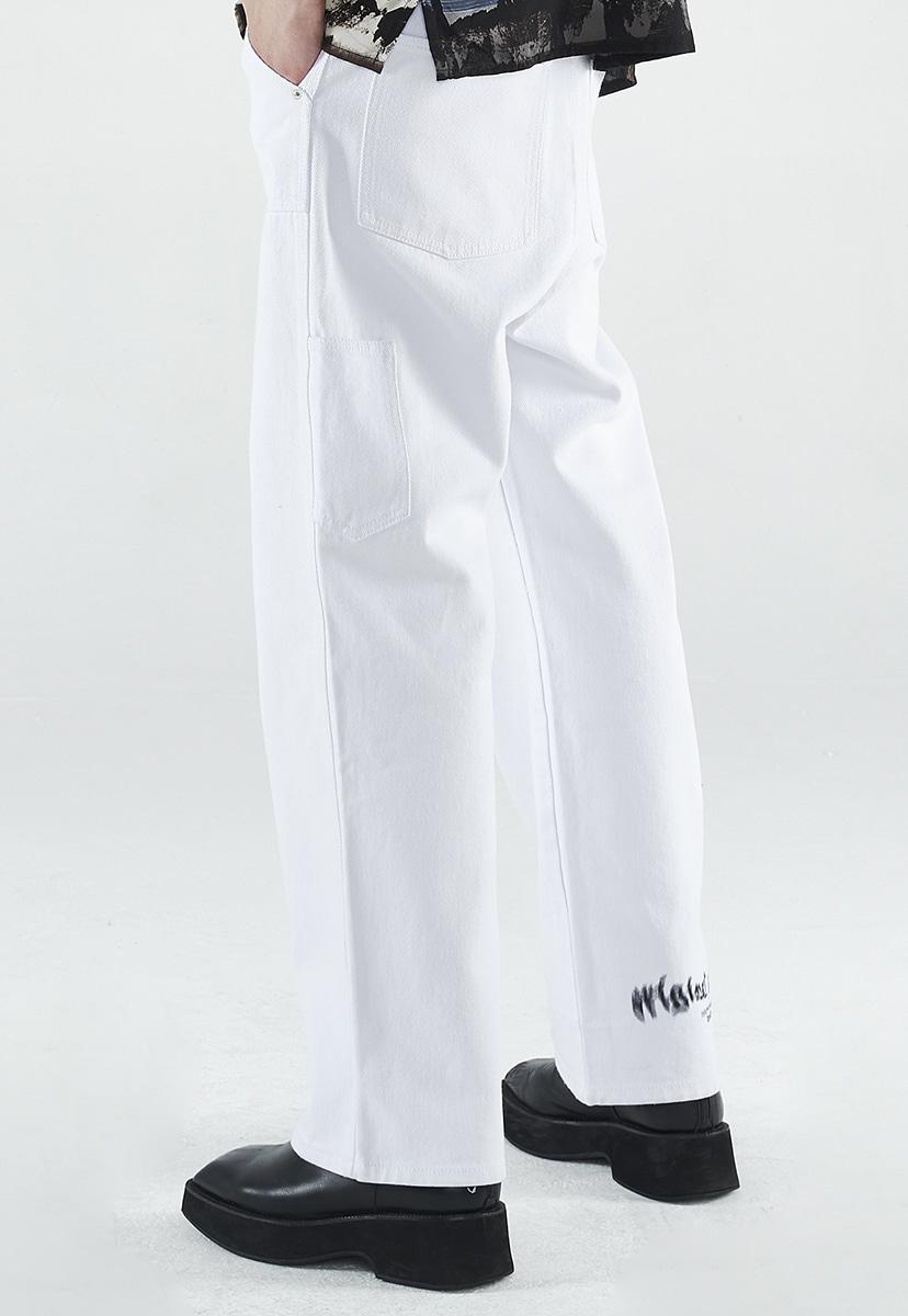 [크럼프] Crump white wide denim pants (CP0141)