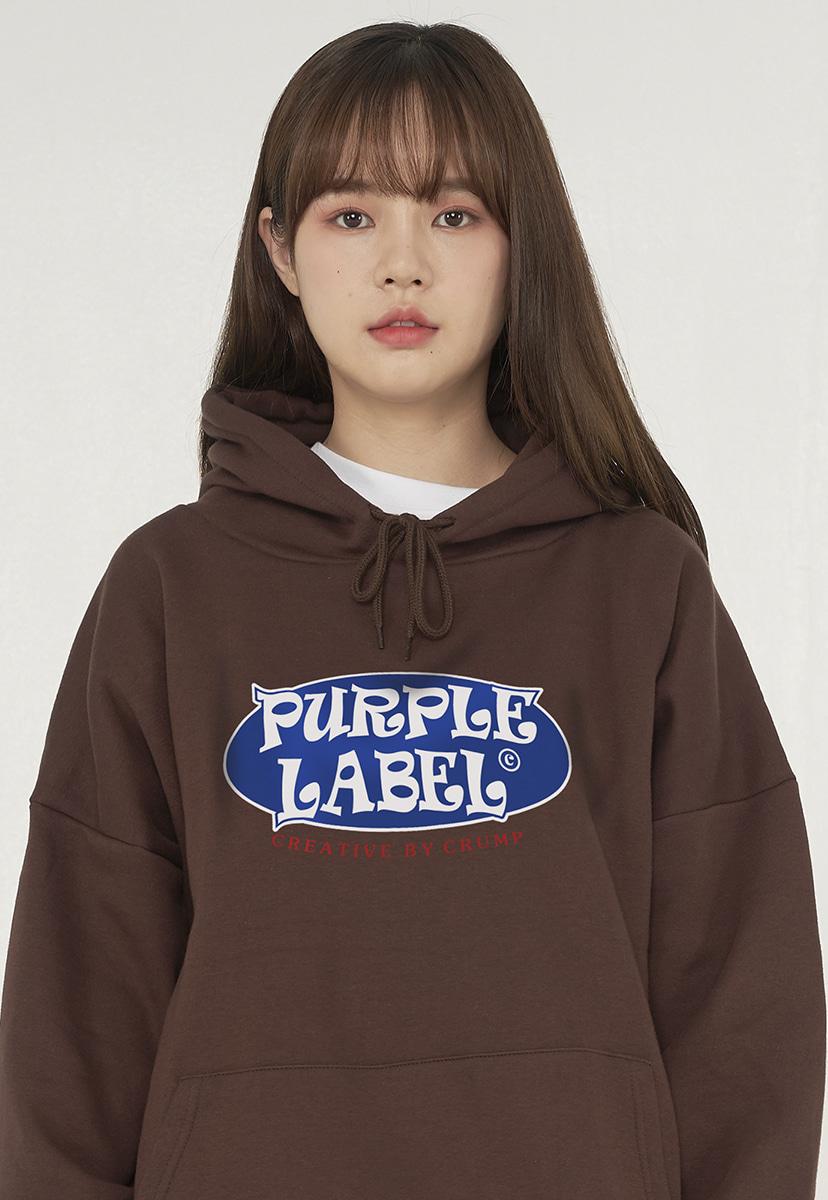 [퍼플라벨][기모] rounding circle logo hoodie (PT0047g-1)