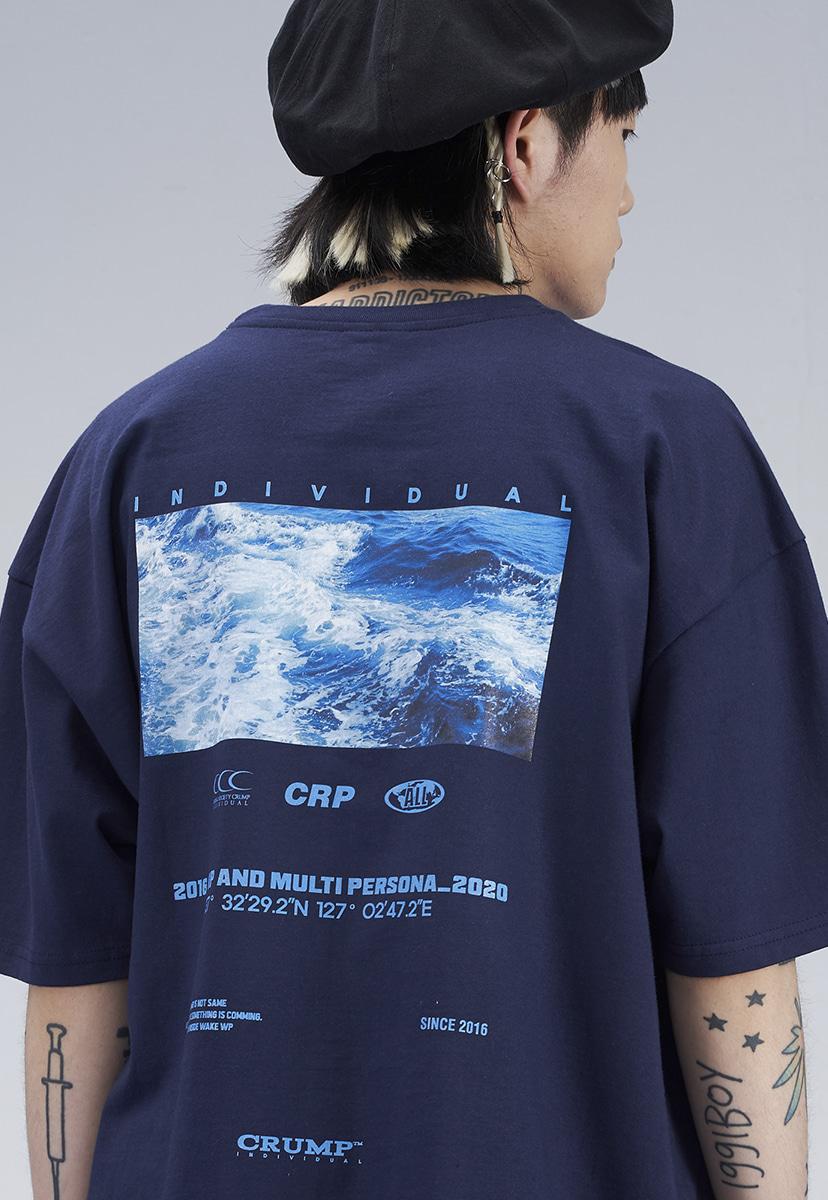 [크럼프] BLUE WAVE T-SHIRT (CT0276-1)