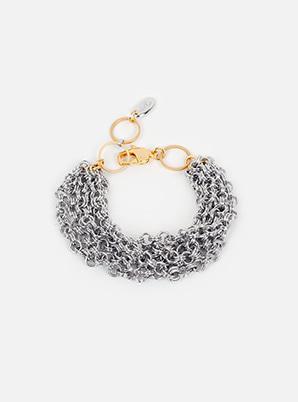 [WANT &P!CK] modgone Silvertone Chains Layered Bracelet
