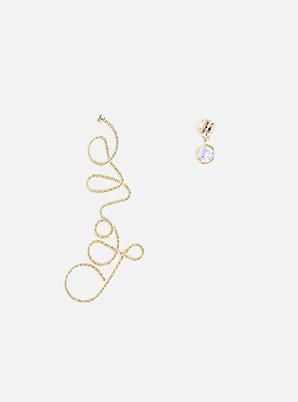 [STYLIST &P!CK] ELYONA Love sign unbalanced earing