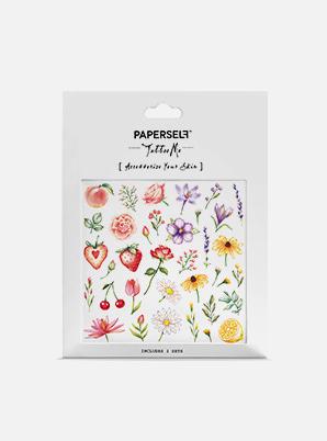 [MD &P!CK] PAPERSELF Flowers & Fruits TATTOO STICKER