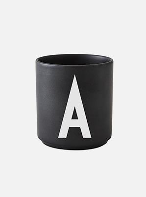DESIGN LETTERS Personal Black Porcelain Cup