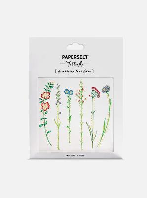 [MD &P!CK] PAPERSELF Vintage Flowers TATTOO STICKER