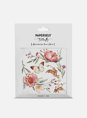 [MD &P!CK] PAPERSELF Roses & Rabbits TATTOO STICKER