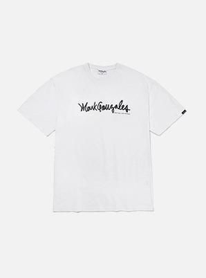 MARK GONZALES SIGN LOGO T-SHIRTS WHITE