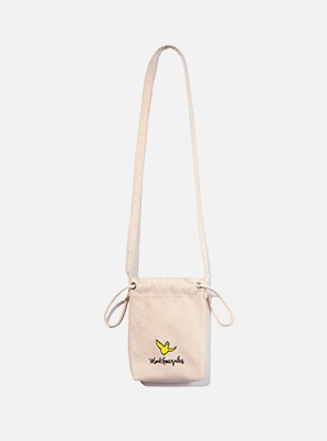 MARK GONZALES ECO POUCH BAG IVORY