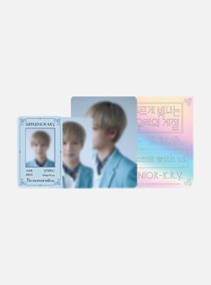 SUPER JUNIOR-K.R.Y. Beyond LIVE ID CARD + FANLIGHT DECO STICKER SET