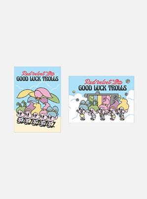 Red Velvet POSTCARD - Red Velvet Loves GOOD LUCK TROLLS (SUMMER Ver.)