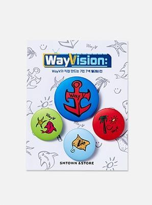 WayV WayVision TATTOO PIN BUTTON SET