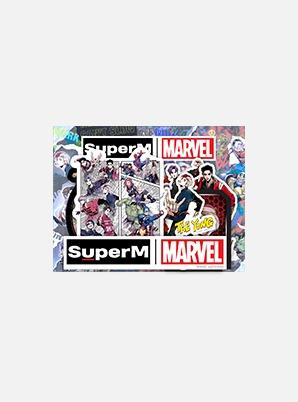 SuperM LUGGAGE STICKER SET - SuperM x MARVEL
