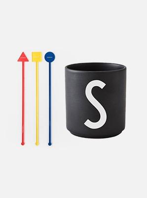Home Cafe SHINee MUDDLER + DESIGN LETTERS CUP SET