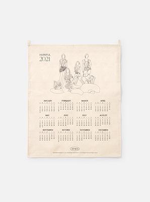 aespa 2021 Canvas Drawing Calendar