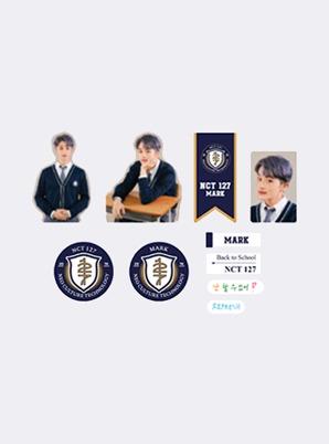 NCT 127 LUGGAGE STICKER+PHOTO CARD SET - 2021 BACK TO SCHOOL KIT