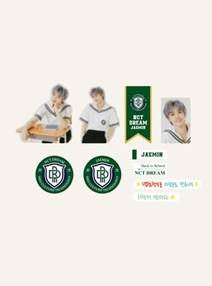 NCT DREAM LUGGAGE STICKER+PHOTO CARD SET - 2021 BACK TO SCHOOL KIT