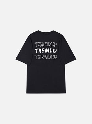 TAEMIN X SPAO 6v6 T-SHIRT (BLACK)