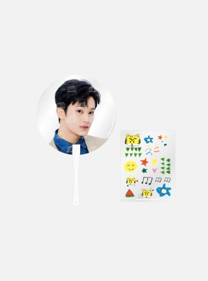 NCT 127 FANMEETING 'OFFICE : Foundation Day' Beyond LIVE CLEAR FAN + DECO STICKER SET