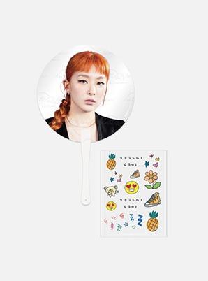 Red Velvet Fanmeeting Beyond LIVE inteRView vol.7 : Queendom CLEAR FAN + DECO STICKER SET