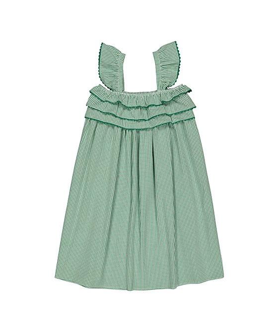 Tammy Dress (SS21-TDVG) - Vichy Green