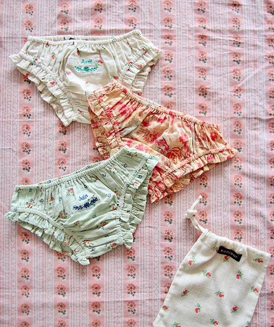 Girl Panty pack (3pc) - Flower #S21PANTPK ★ONLY 10Y★