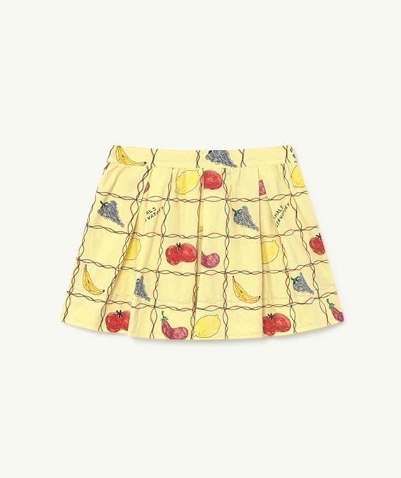 Bird Kids Skirt - Soft Yellow Fruits (F21137)