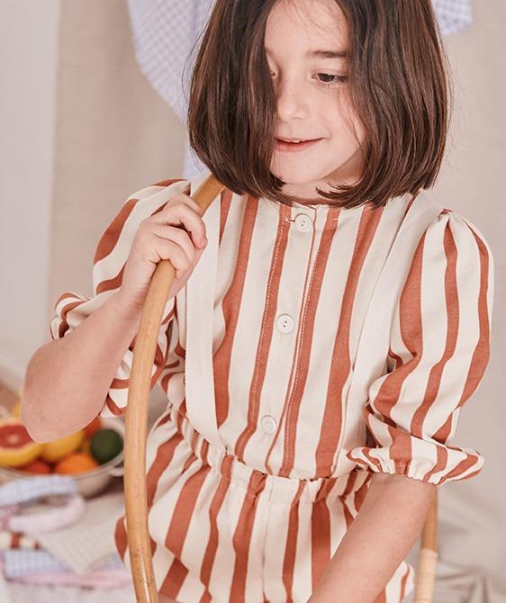 Caramel Stripe Blouse