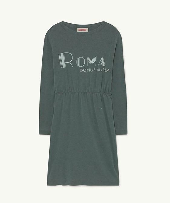 Crab Kids Dress - Deep Green Roma  (F21055)