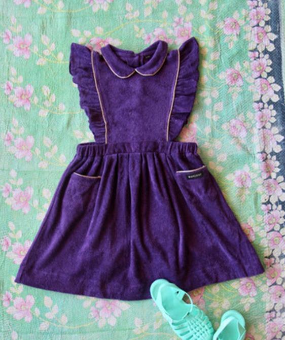 Apron Dress - purple terry #S21REPUT