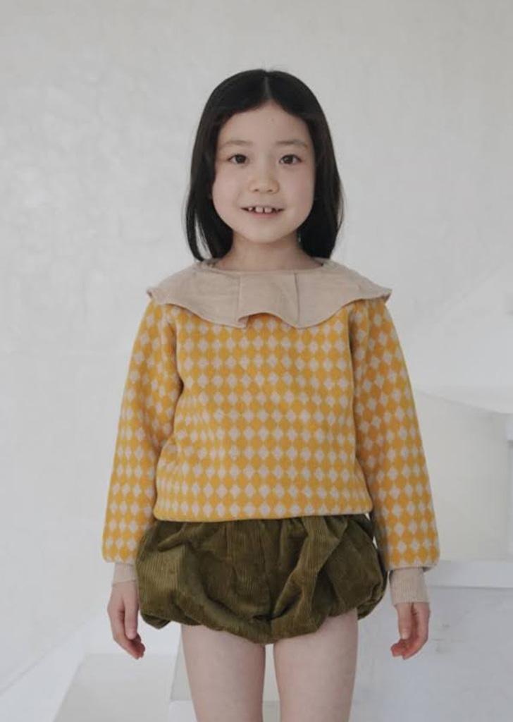 Frill Collar Sweater - Yellow