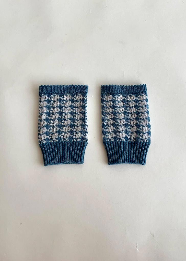 Fingerless Gloves - Blue