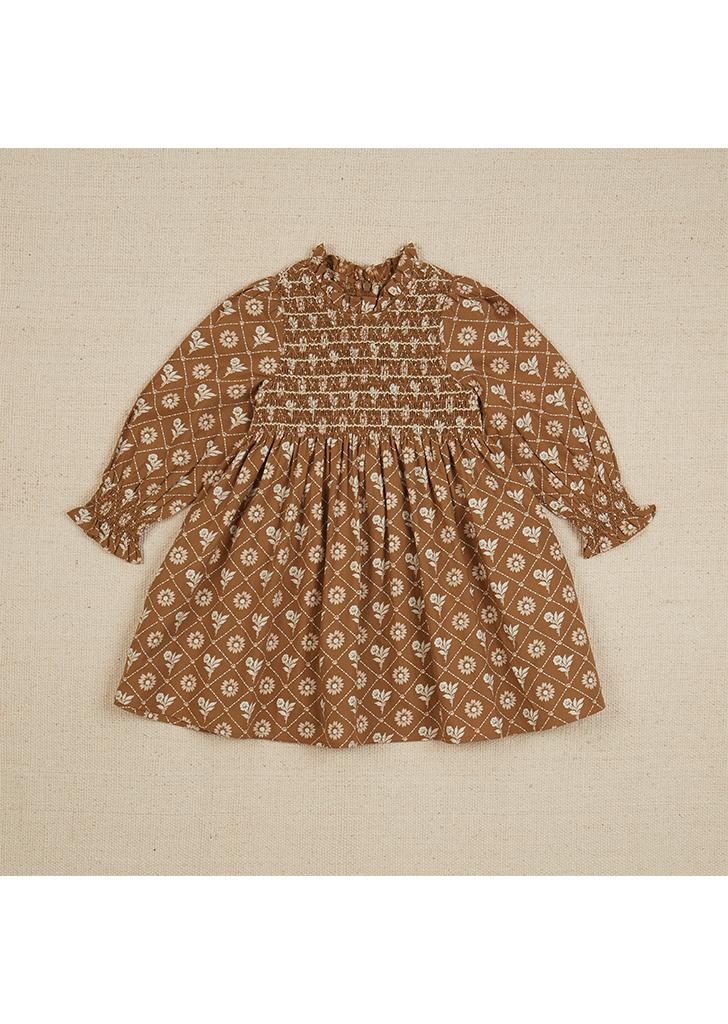 Mia Dress - Loaf Tin Floral Fawn