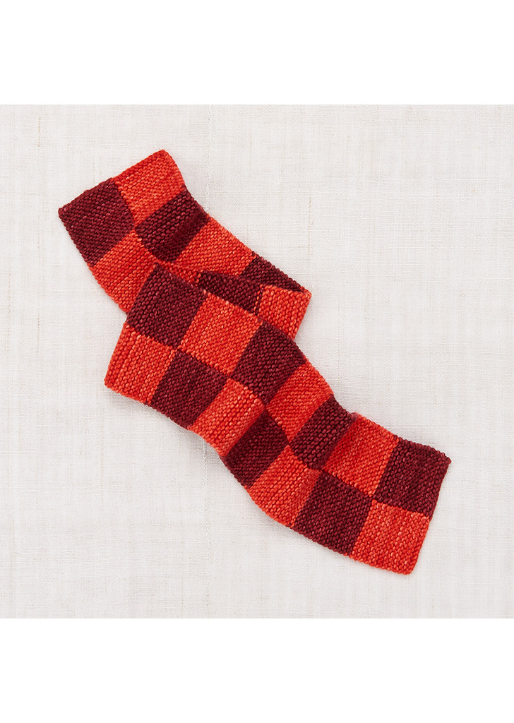 Checkerboard Scarf - Red Flame