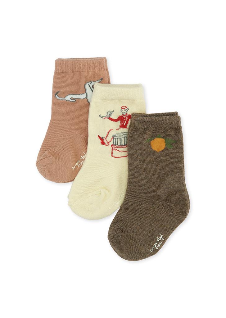 3 Pack Jacquard Socks - Lemon/Bell Boy/Dog
