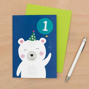 Polar Bear 1st B-Day Card