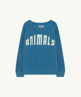 Bear Kids+ Sweatshirt - Blue Animals (F21050)