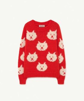 Arty Bull Kids Sweater - Red (F21084)