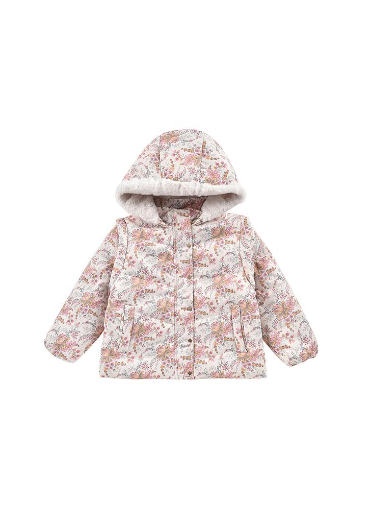 ◆2Drop◆ Edalise Puffy Jacket - Cream French Flowers