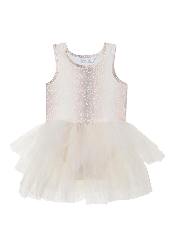 B.A.E Suede Tutu Dress - Fawn Print