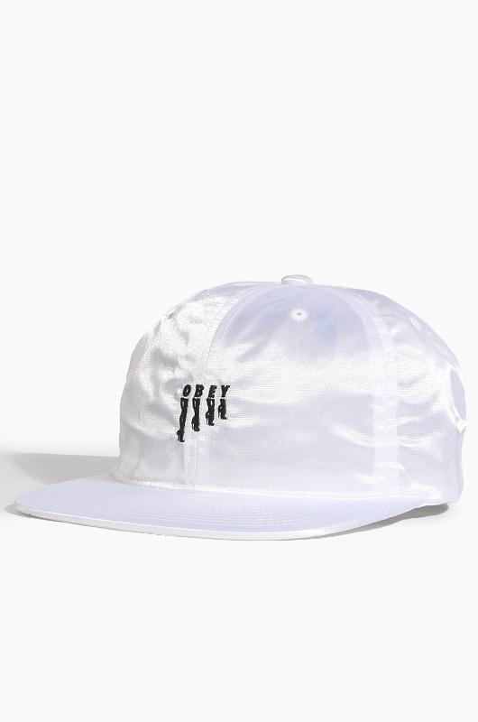 OBEY Heels Hat White