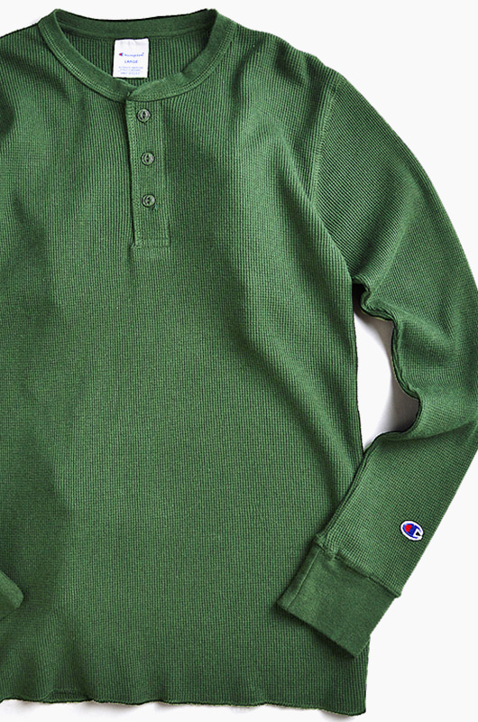 CHAMPION (JAPAN) Henley Thermal l/s Olive