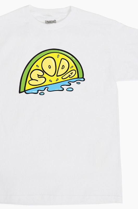 DJ SODA Lime Soda S/S White
