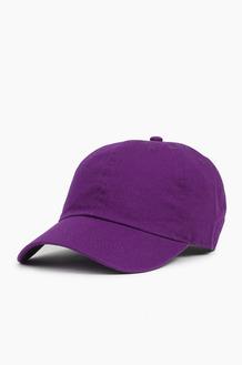 NEWHATTAN Cotton Ballcap Purple