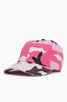 NEWHATTAN Cotton Ballcap Pink Camo