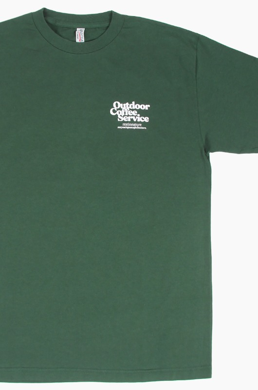 OUTDOOR COFFEE SERVICE OG Logo S/S Green